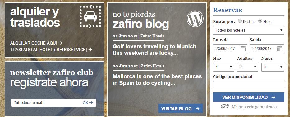 Zafiro Hoteles Reservas
