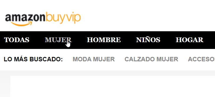 Amazon BuyVIP categorías