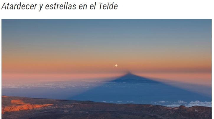 Volcano Teide planes