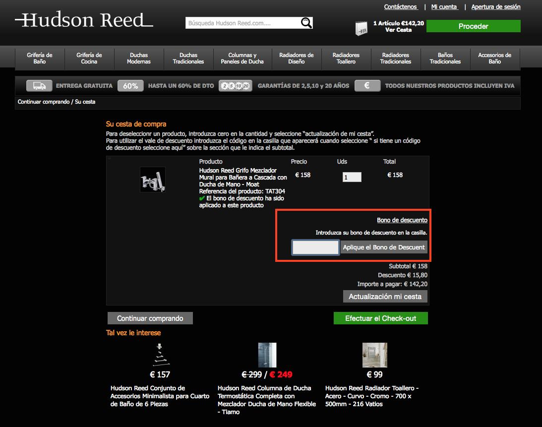 Descuento Código Descuento Hudson Reed