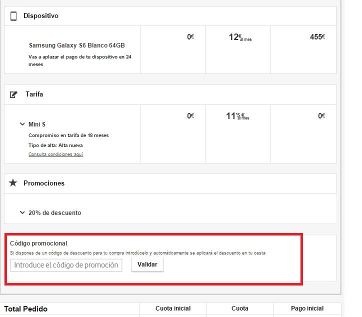 Descuento Código Descuento Vodafone