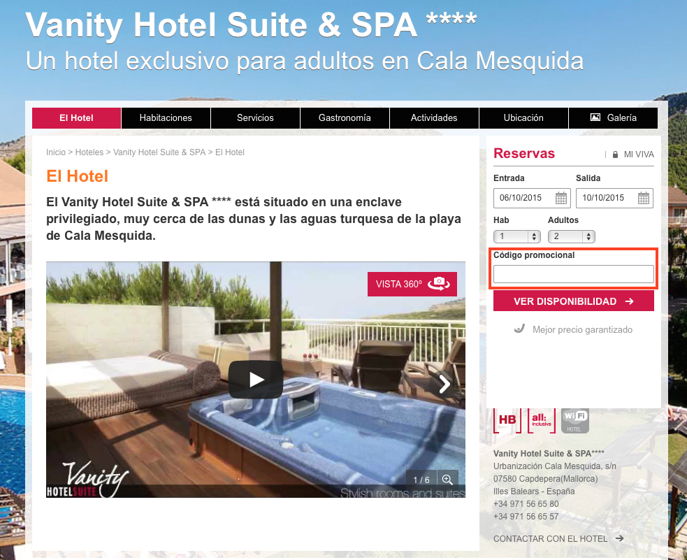 Descuento Código Promoción Viva Hotels