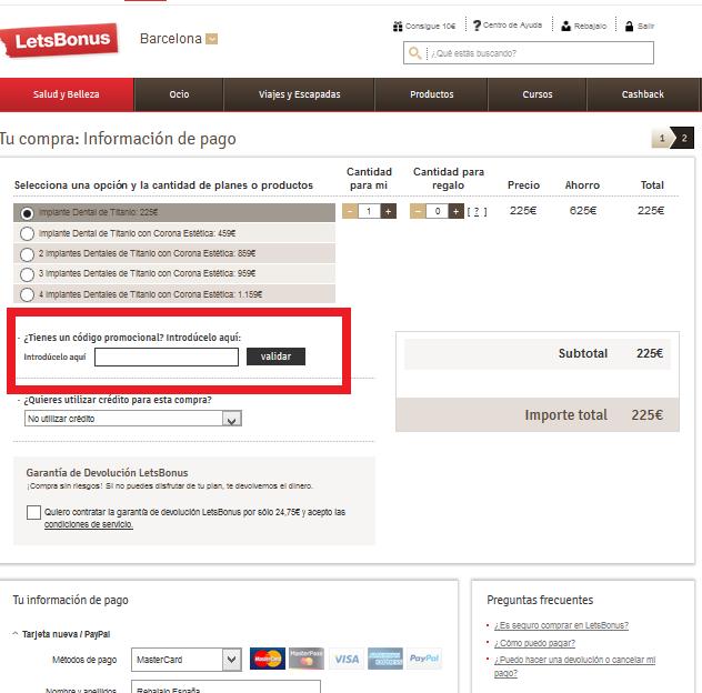 Descuento Código Promocional LetsBonus