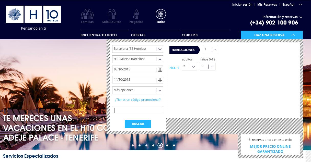 Descuento Código promoción H10 Hotels