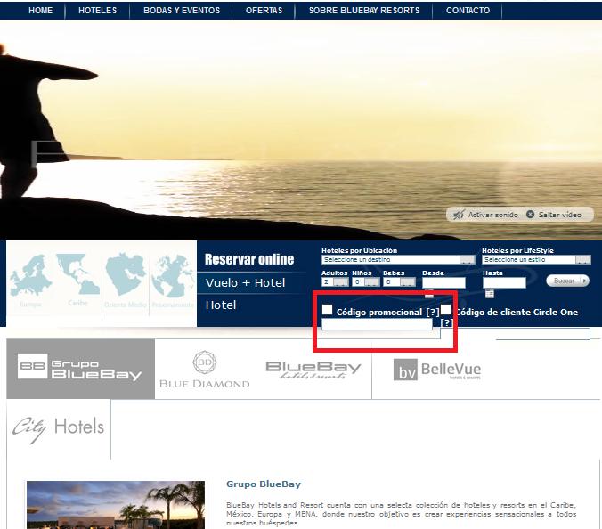 Descuento Código Promocional Bluebay Resorts