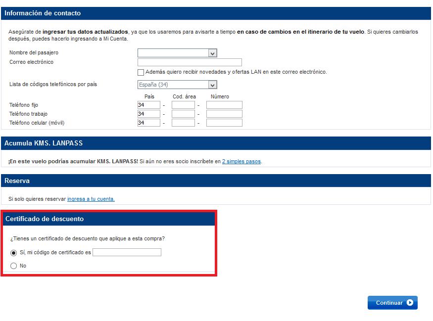 Descuento Certificado Descuento LAN