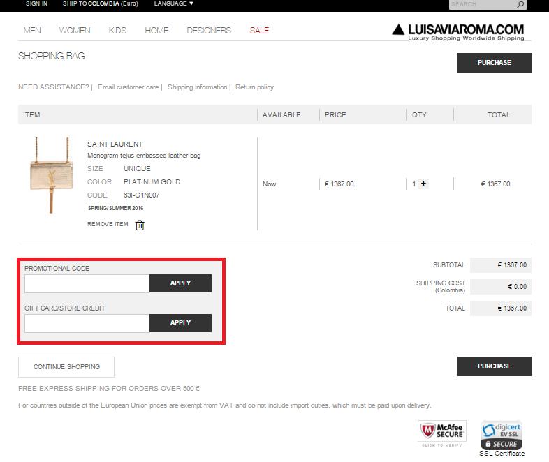 Descuento tu Código Promocional Luisaviaroma.com