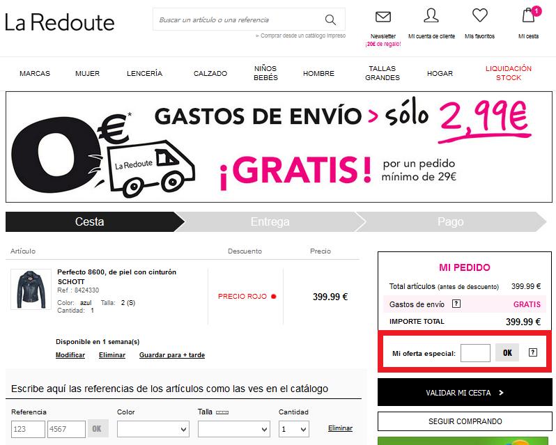 0b72bfadfc Código Descuento La Redoute 2019 - Rebajalo.es