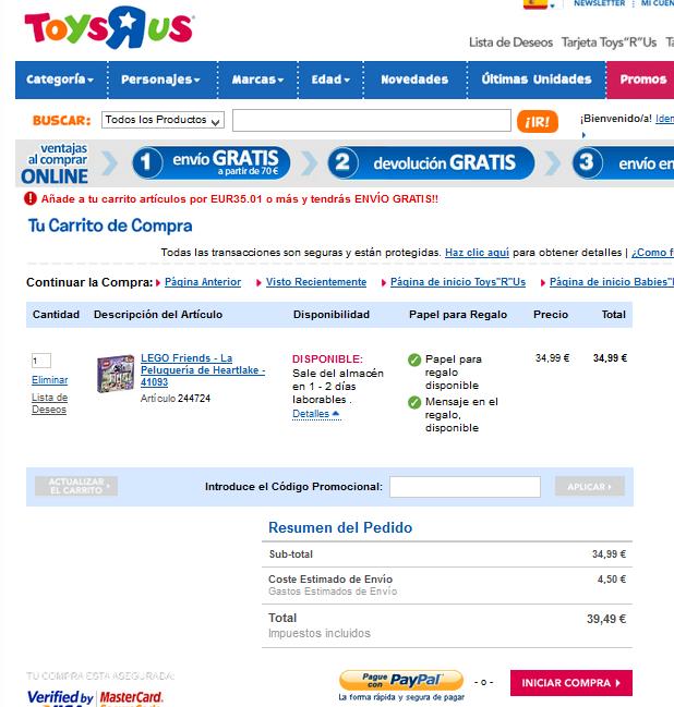 Descuento Código Promocional ToysRus